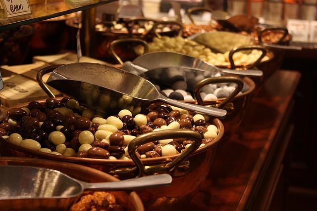 Belgische Süßigkeiten, Schokolade und Pralinen